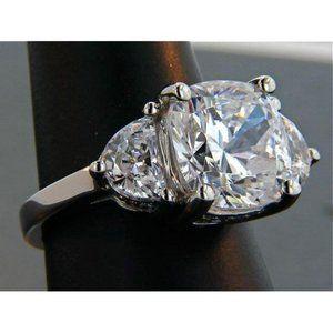 2.15 ct. cushion half moon diamond royal engagemen